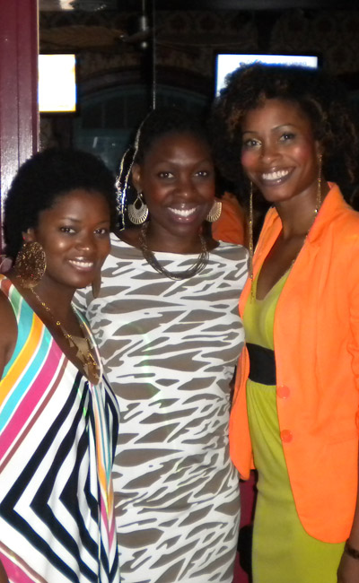 Socamom, BeeSince83, and Nubiansoulslocs at the Shea Radiance After Party