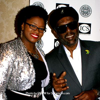 Eva Greene-Wilson and William Bunny Rugs Clarke at the Caribbean American Heritage Awards, Washington DC