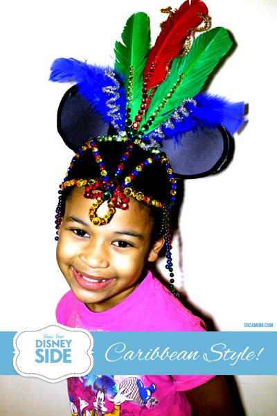 Disney @ Home Celebration :: Minnie Mouse Caribbean Carnival Headpiece :: SocaMom.com