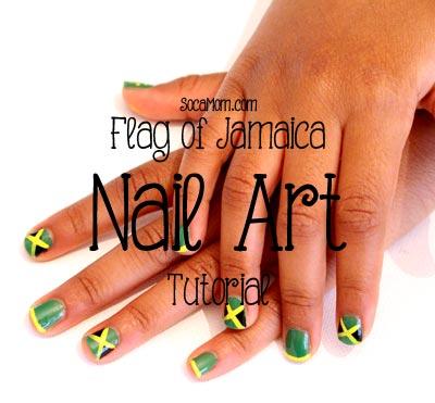 Jamaican Flag Nail Art Tutorial :: SocaMom.com