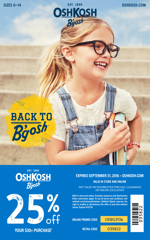 Socamom.com: OshKosh B'Gosh Coupon Code and Gift Card Giveaway