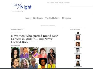 Screenshot of feature on Tue/Night Website
