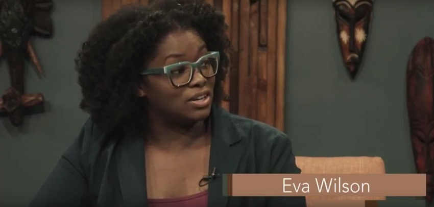 Still Image from Eva Wilson's Black History Month Interview with Alexander Evans and Amari Johnson about Caribbean Culture in America