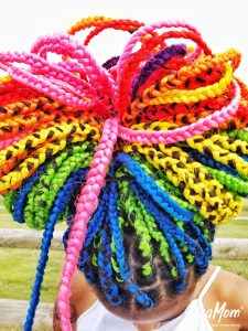 Rainbow Box Braids - Socamom.com