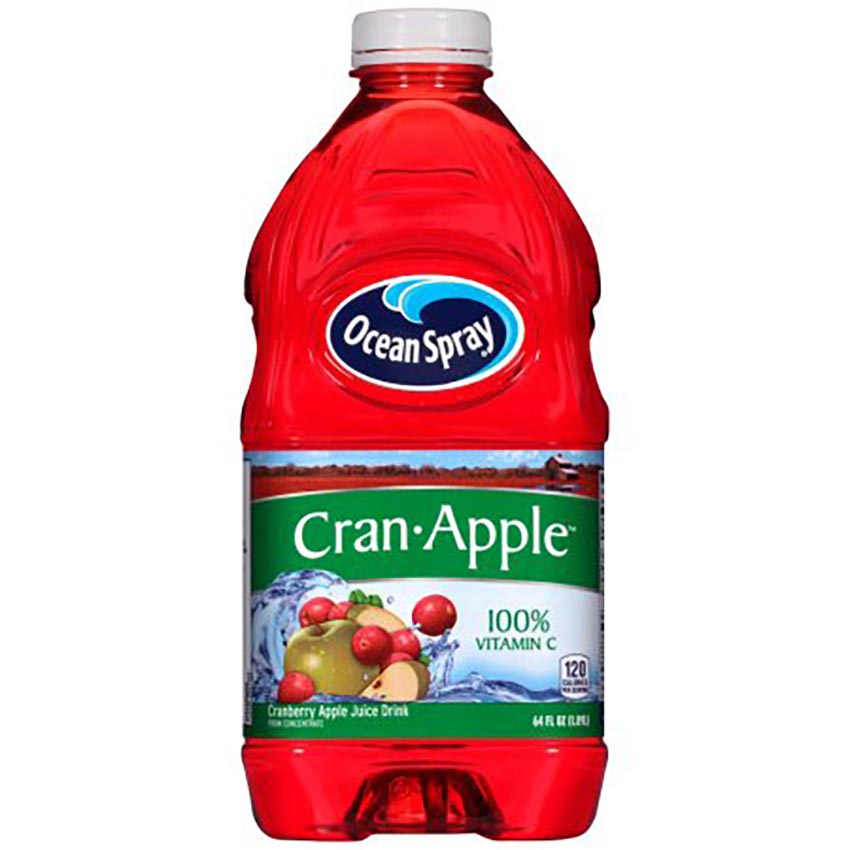 Bottle of Cranberry Apple Juice width=