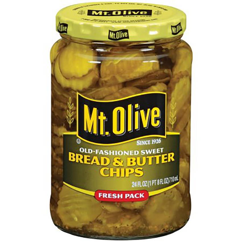 Jar of Mt Olive Pickles