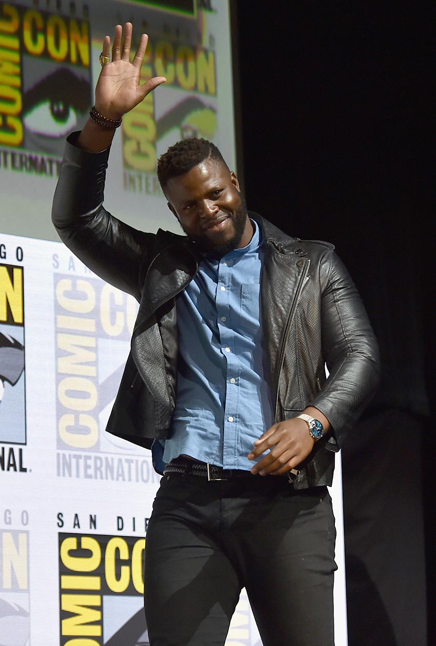 Winston Duke at Comicon for Marvel's Black Panther