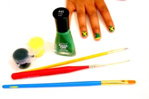 Jamaican Flag Nail Art Tutorial :: SocaMom.com