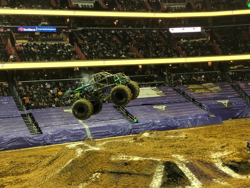 Monster Jam Truck in Flight!
