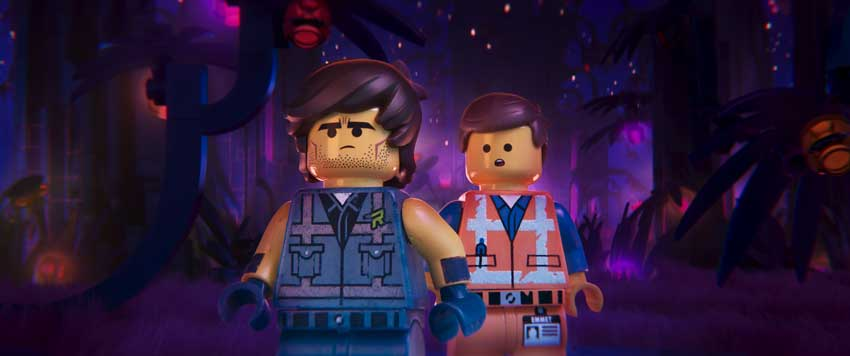 "(L-R) Rex Dangervest (CHRIS PRATT) and Emmet (CHRIS PRATT) in a scene from the animated adventure ""The LEGO® Movie 2: The Second Part,"""