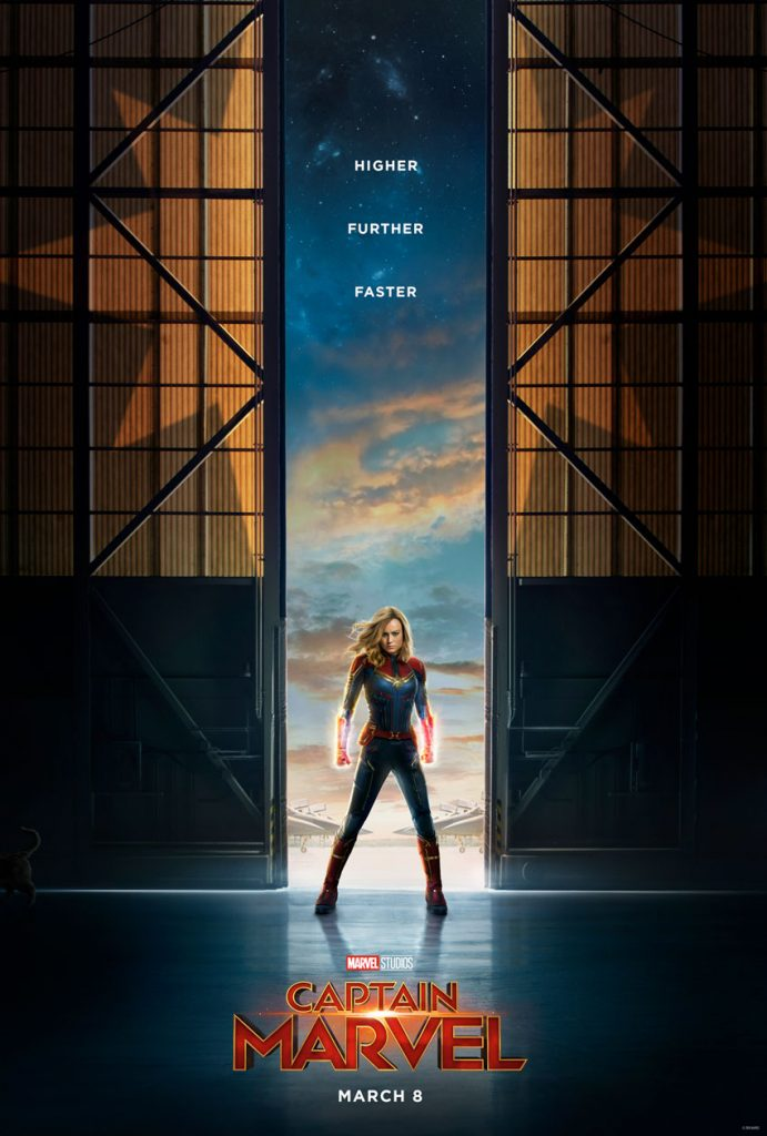 Brie Larson as Captain Marvel - Poster