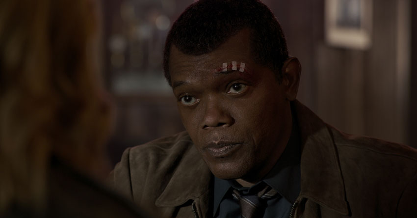 Samuel Jackson as a younger Nick Fury.