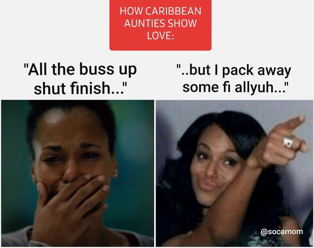 Kerry Washington Caribbean Auntie Meme