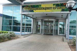 View of the door of Norman Manley Airport