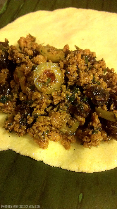 Meat filling for pastelles  ::  Socamom.com