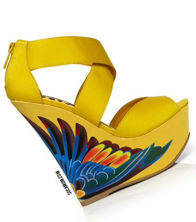 You only have 24 hours left for this beauty - Dollhouse Paradise Wedge:: Socamom.com