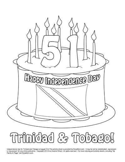 New Coloring Sheet: Happy Independence Day Trinidad And Tobago! - Socamom