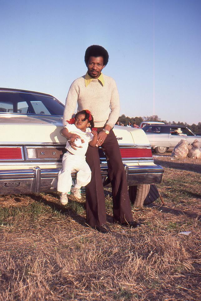 Dad and I leaning on a 77 Mercury Marquis... not sure if this was new or not. Considering my age in the photo, probably!