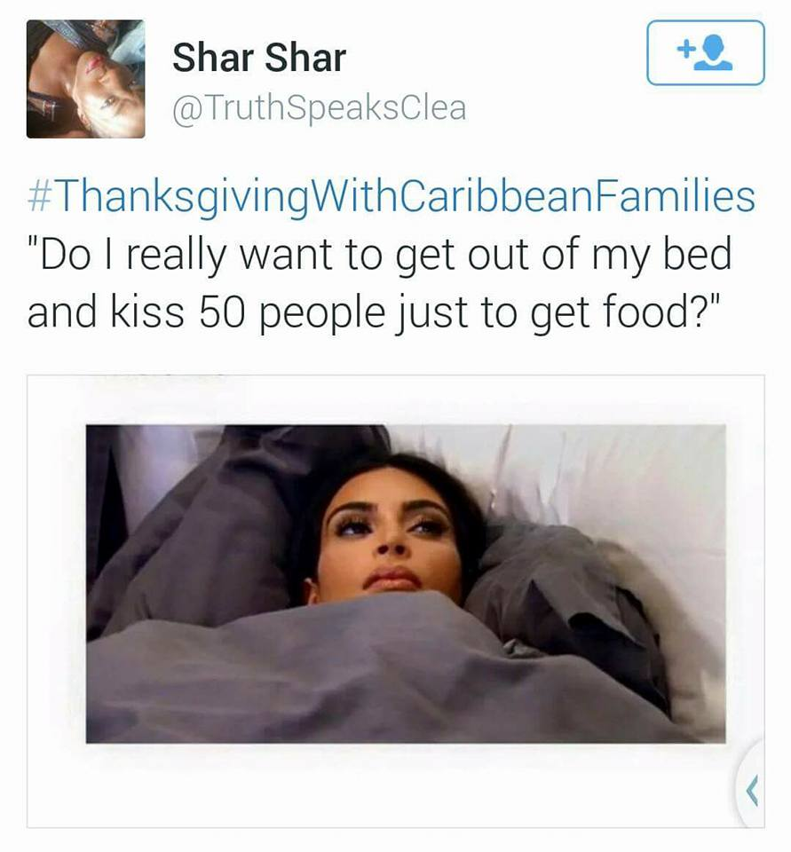 When Caribbean People Celebrate Thanksgiving...