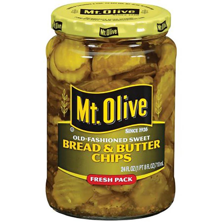 Jar of Mt Olive Pickles