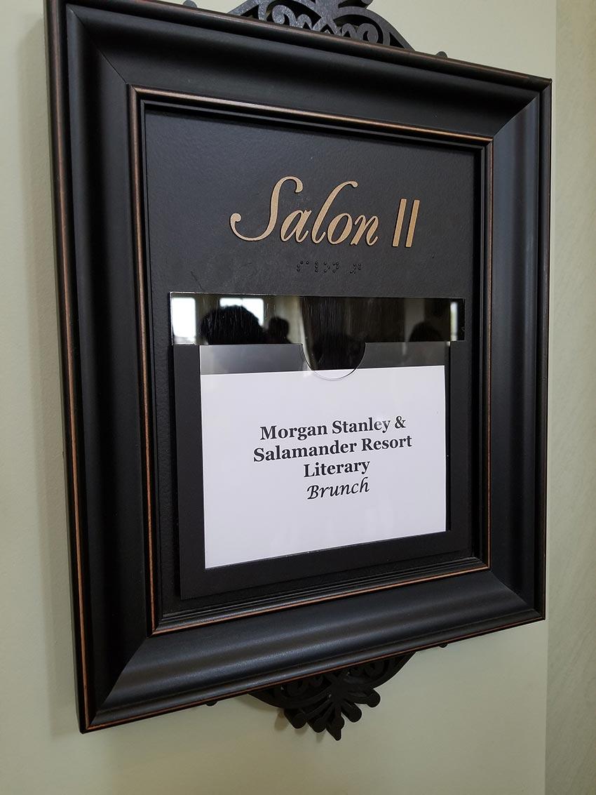 The Morgan Stanley and Salamander Literary Brunch