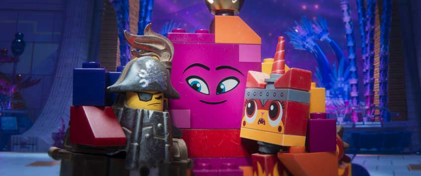 "(L-R) MetalBeard (NICK OFFERMAN), Queen Watevra Wa'Nabi (TIFFANY HADDISH) and Ultrakatty (ALISON BRIE) in a scene from the animated adventure ""The LEGO® Movie 2: The Second Part,"" from Warner Bros. Pictures and Warner Animation Group, in association with LEGO System A/S, a Warner Bros. Pictures release."