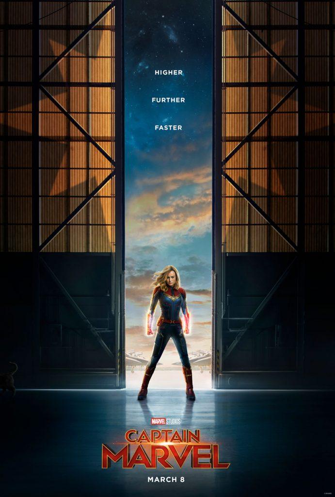 Brie Larson as Captain Marvel - Poster