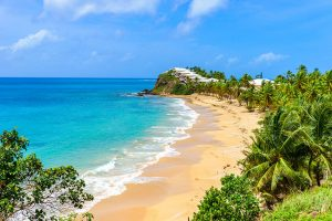 Image of paradise beach Morris Bay in Antigua