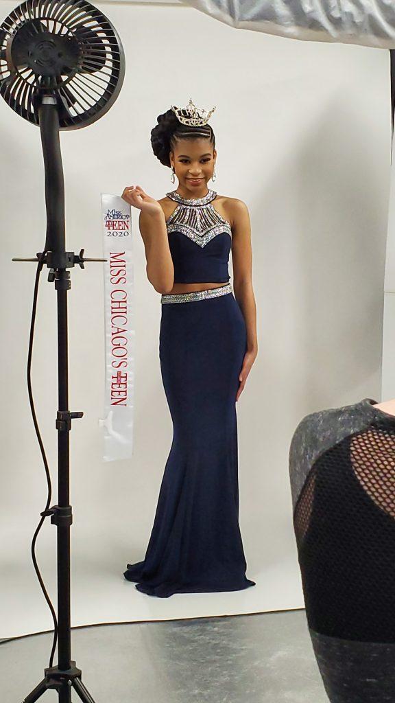 Eden Wilson posing for her official photos