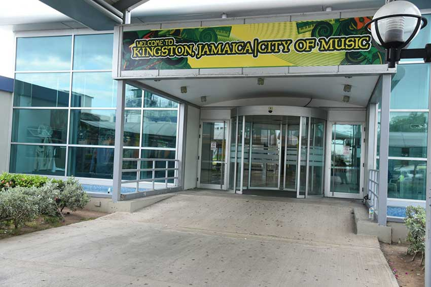 View of the door of Norman Manley Airport